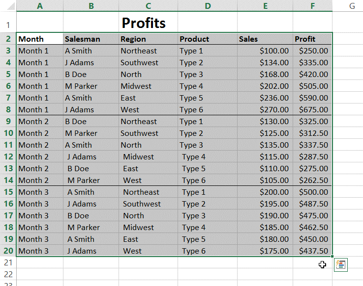 Excel PivotTable Tutorial