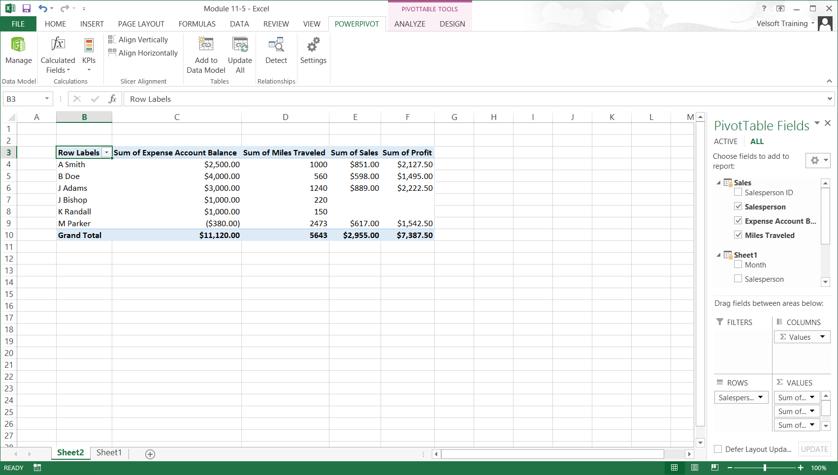 Excel PowerPivot Tutorial